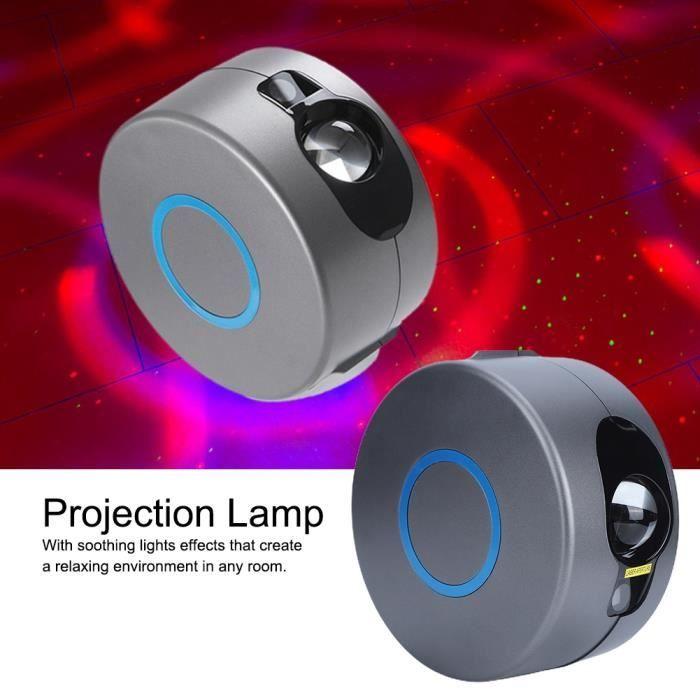 Duokon Lampe de Projecteur Étoile 5W Veilleuse Rotative Colorée LED Avec Télécommande Décor de Chambre US 110V-240V-HEN