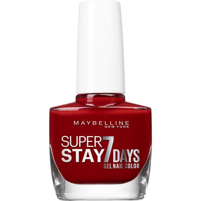 GEMEY MAYBELLINE New York Superstay 7 Days vernis à ongles 06 Rouge profond 10 ml Nu