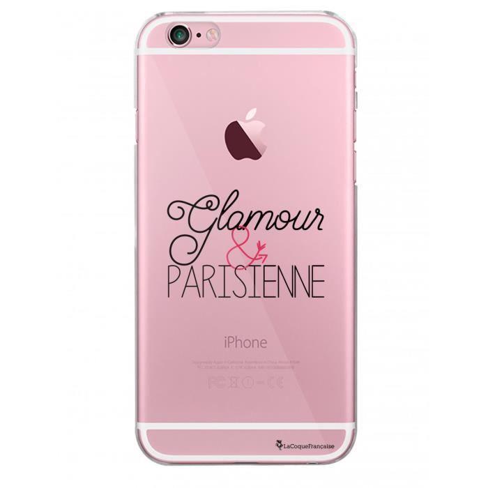Coque iPhone 6 iPhone 6S rigide transparente Glamour et Parisienne Ecriture Tendance et Design La Coque Francaise