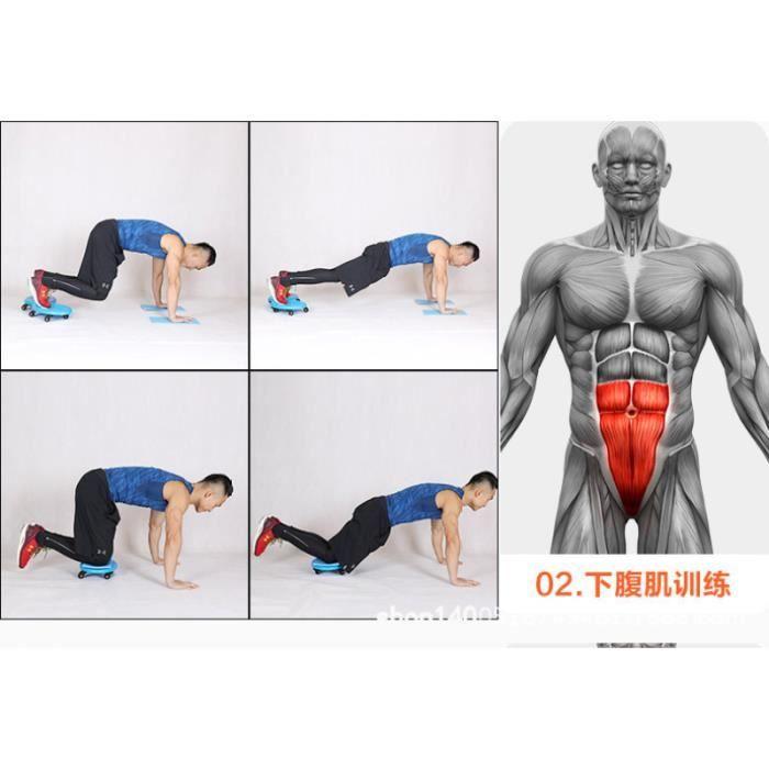1PC disque abdominal à quatre roues entraîneur masculin entraînement abs roue d'exercice pour mari APPAREIL ABDO - PLANCHE ABDO