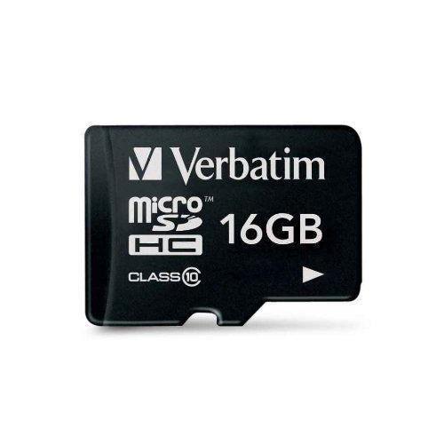 VERBATIM 0023942440109 - JEUX VIDEO - CARTE MEMOIRE - 44011 Carte micro SDHC Classe 10 16 Go noir