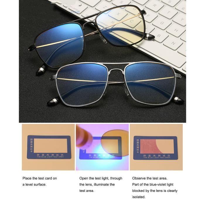 Lunettes dOrdinateur UV Protection,Anti Eblouissement,Hommes Femmes pour /Écran Ordinateur PC VJK Lunette Anti-Lumi/ère Bleue Anti fatigue Oculaire Filtre UV