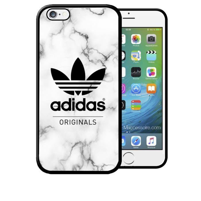 coque iphone 6 6s adidas original fond marbre spor