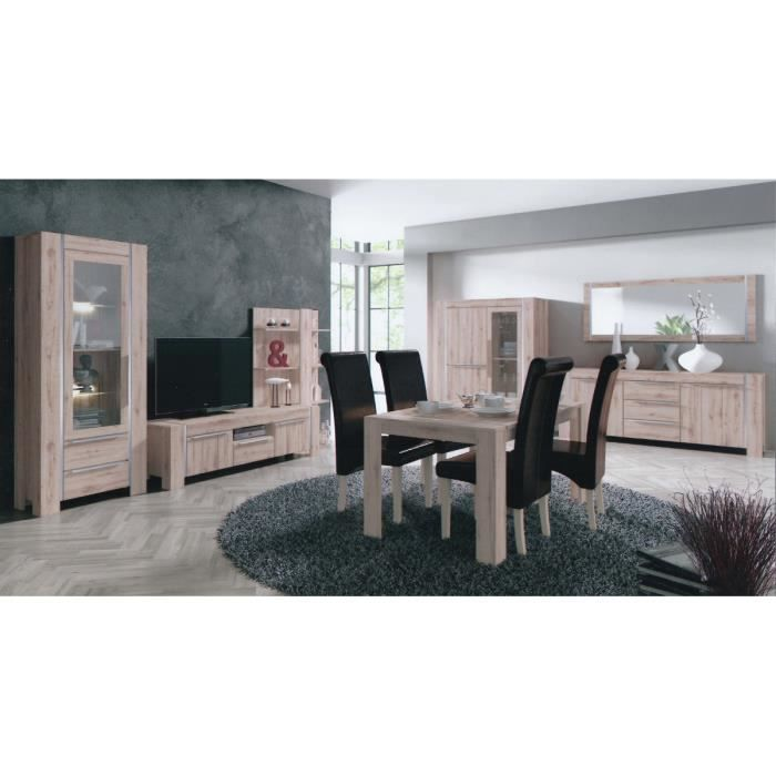 salle manger compl te ch ne clair solido achat. Black Bedroom Furniture Sets. Home Design Ideas