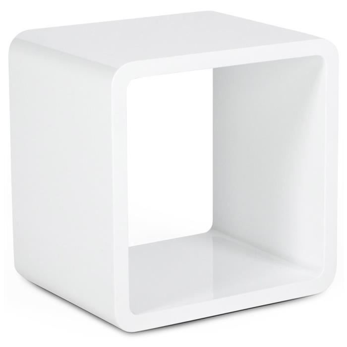 kub cube de rangement blanc laqu 45x35x45cm achat vente petit meuble rangement cube de. Black Bedroom Furniture Sets. Home Design Ideas