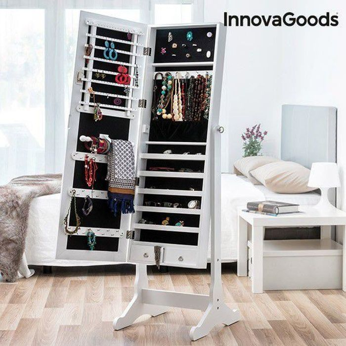 miroir porte bijoux xxl achat vente armoire a bijoux miroir porte bijoux xxl cdiscount. Black Bedroom Furniture Sets. Home Design Ideas