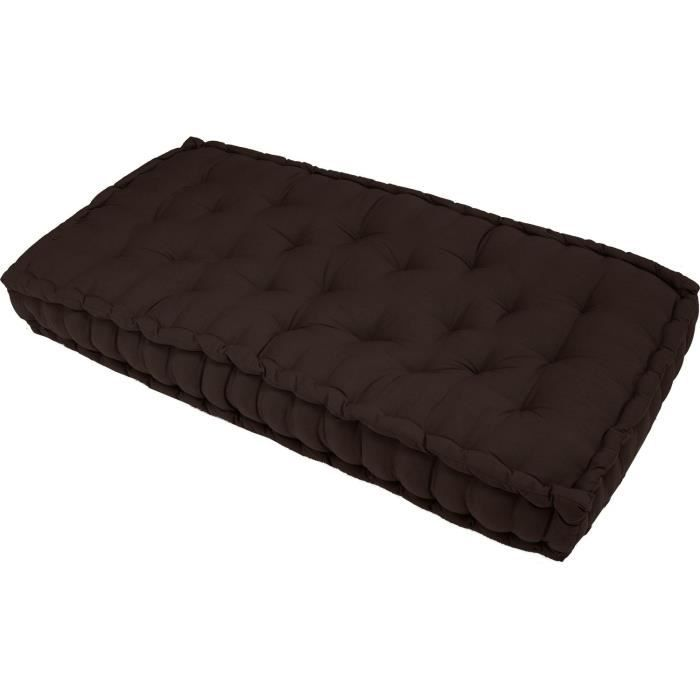 matelas de sol chocolat 120x60x15 cm achat vente coussin soldes cdiscount. Black Bedroom Furniture Sets. Home Design Ideas