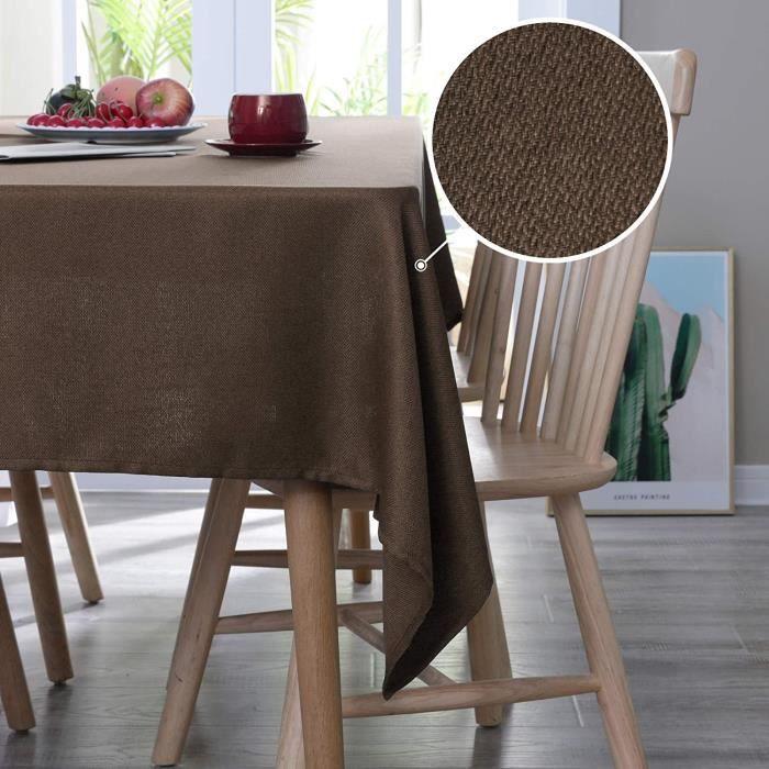 Deconovo Nappe de Table Semi Imperm/éable Rectangulaires Cuisine Nappe de Salle /à Manger 130x130cm Blanc Motif Rose