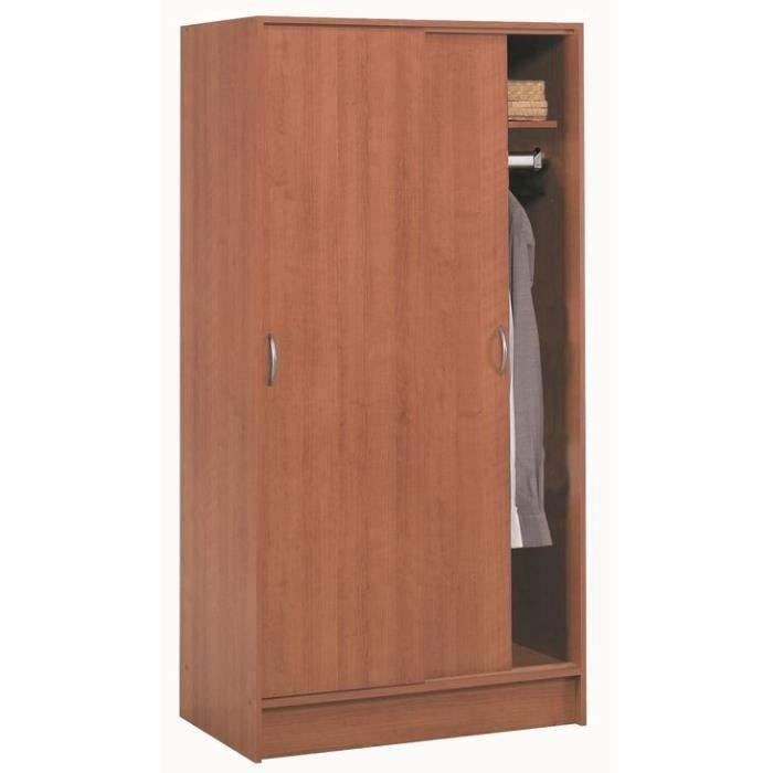 armoires 2 portes coulissantes osiris penderie achat vente armoire de chambre armoires 2. Black Bedroom Furniture Sets. Home Design Ideas