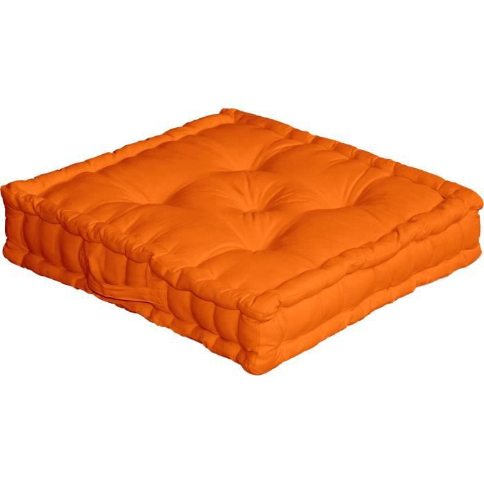 grand coussin de sol lucas orange achat vente coussin. Black Bedroom Furniture Sets. Home Design Ideas