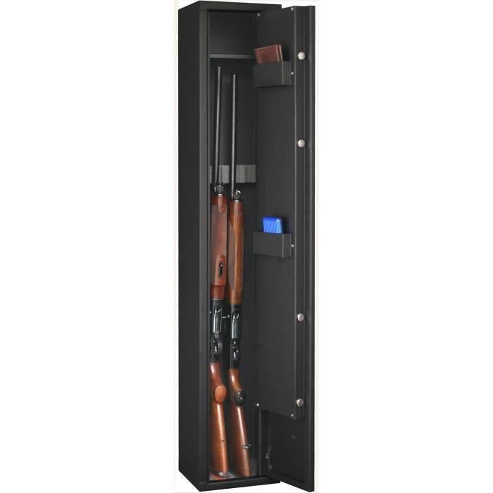 Armoire Forte Delta 4 Armes 1 Noir Achat Vente Armoire A Fusil