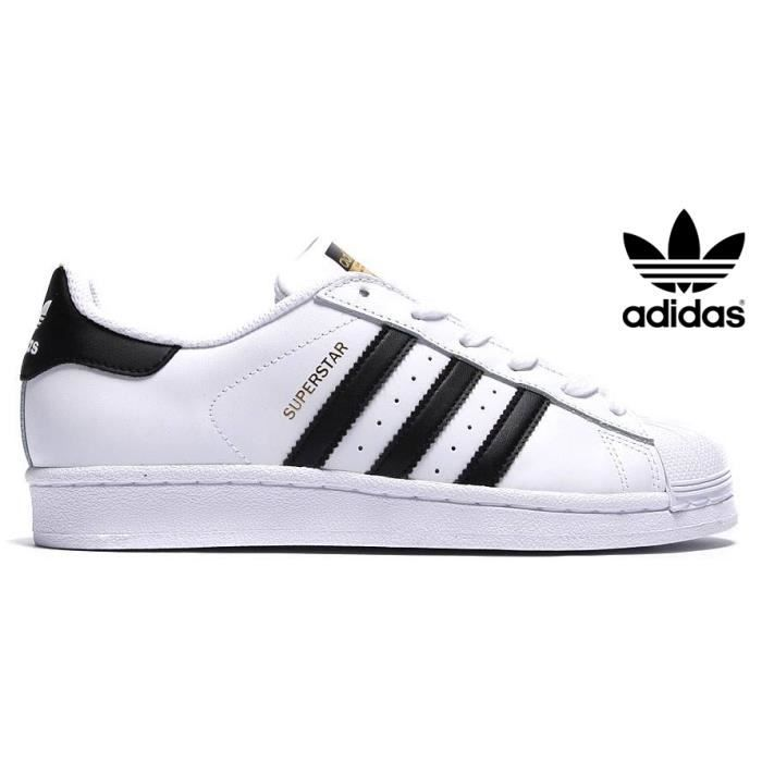 adidas originals superstar femme blanc noir or blanc achat vente basket soldes d s le. Black Bedroom Furniture Sets. Home Design Ideas