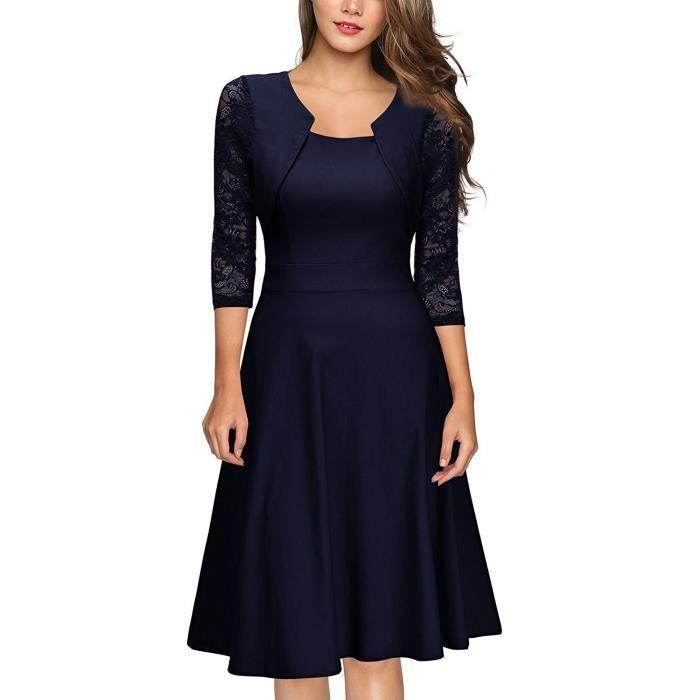 Nouveau Femme Cocktail Fete Soiree Classique Robe Taille 8-18