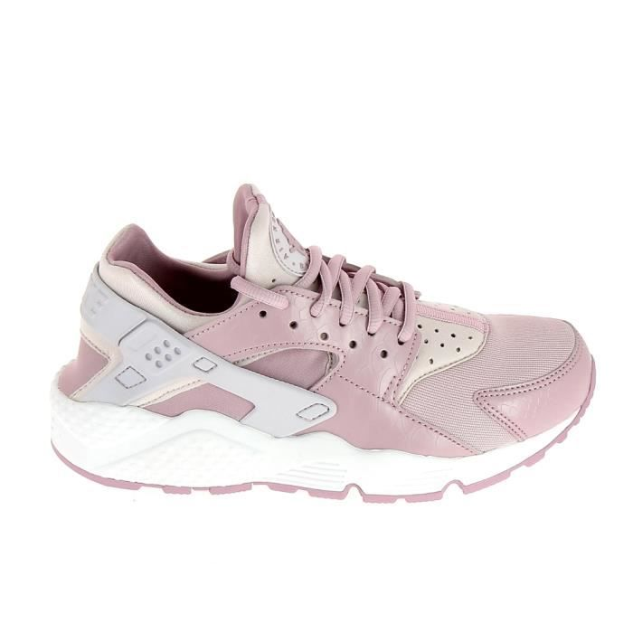 Basket -mode - Sneakers NIKE Air Huarache Run Rose Blanc 634835 029