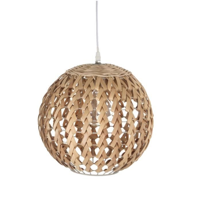 Paris prix lampe suspension bambou boule 30cm naturel achat vente paris - Lampe suspension boule ...