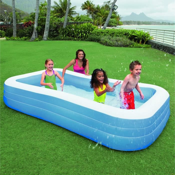 Intex piscine rectangulaire family 305x183x56cm achat for Piscine demontable rectangulaire