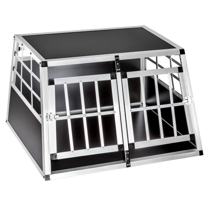 cage caisse box de transport double pour chien en aluminium confort achat vente caisse. Black Bedroom Furniture Sets. Home Design Ideas