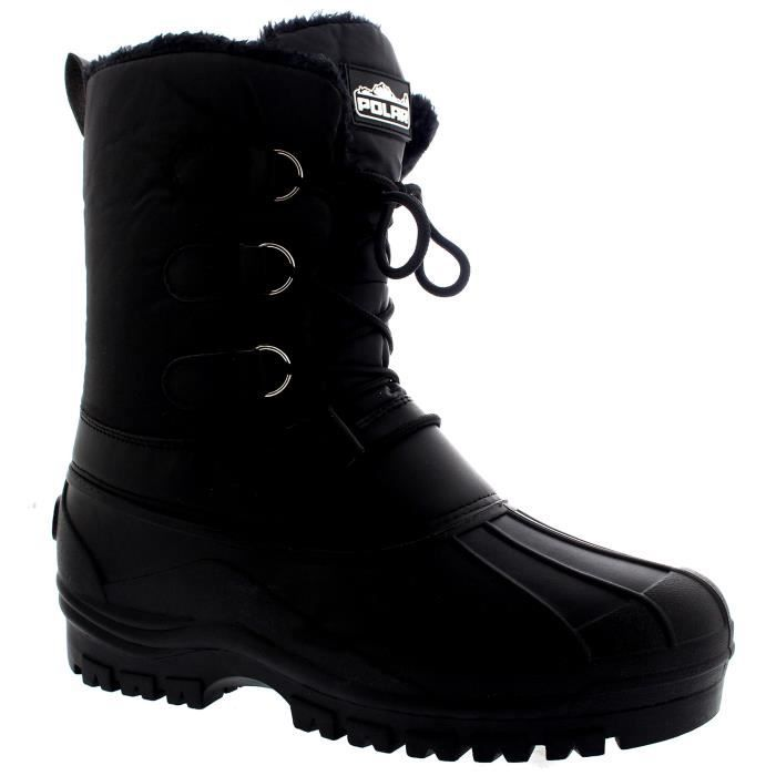 Hommes Muck lacées court Nylon hiver neige pluie bottes lacées Duck Casual K3O9O Taille-46 6Iukkr