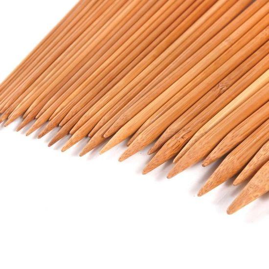 18 paires d/'Aiguilles toriques à tricoter de tailles 36cm en bambou avec uni 1X