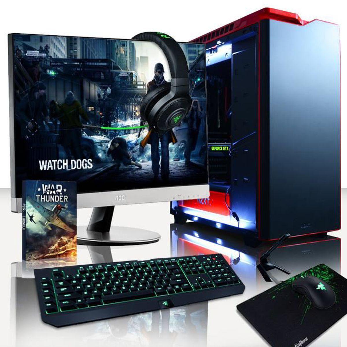 UNITÉ CENTRALE + ÉCRAN VIBOX Colossus Pack 3 PC Gamer - Intel 8-Core, GTX
