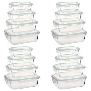 BOITES DE CONSERVATION Lot de 16 Boîtes Alimentaires Boîte à Déjeuner en
