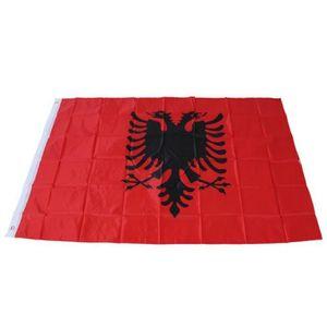 Albanie Drapeau 1,5/x 0,9/m Grand/ /100/% Polyester/ /Oeillets en m/étal/ /Double couture