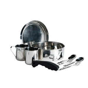 VAISSELLE CAMPING Kit Popote Inox Camping Gamelle Pour 2 Personnes,