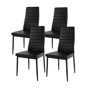 chaise salle a manger en cuir achat vente pas cher. Black Bedroom Furniture Sets. Home Design Ideas