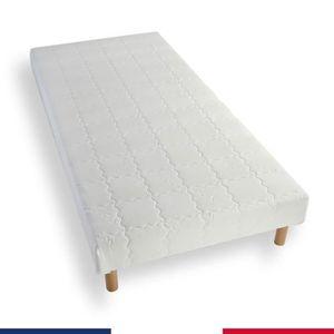 SOMMIER Sommier tapissier 60x120 lattes bois massif