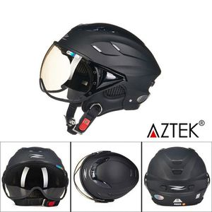 CASQUE MOTO SCOOTER AZTEK® Casque moto scooter modulable 58cm-60cm dem