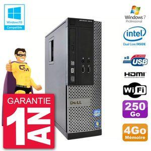UNITÉ CENTRALE  PC Dell 3010 SFF Intel G2020 RAM 4Go Disque 250Go