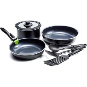 POÊLE - SAUTEUSE GREENCHEF Clickpan Magneto Diamond Black Set 8 piè