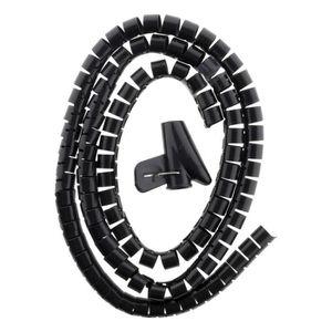 PIÈCE MATÉRIEL ÉLECTR. Kit range câble Noir Ø20 1,5m