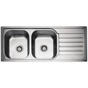 Evier inox 2 bacs encastrable 120x50 achat vente for Cuve evier encastrable