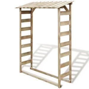 ABRI JARDIN - CHALET Abri de stockage du bois de chauffage Pin imprégné
