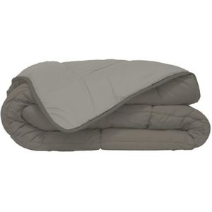 COUETTE CALGARY Couette chaude Microfibre 400g/m² Taupe &