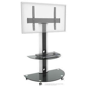 FIXATION - SUPPORT TV RICOO Meuble sur pied TV Roulettes Design FS0502 S