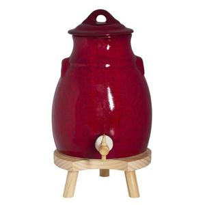 BEURRIER - HUILIER  TABLE PASSION - VINAIGRIER + SOCLE 3.5 ROUGE