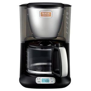 CAFETIÈRE Tefal - cafetière programmable 15 tasses 1000w noi