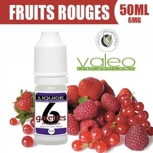 LIQUIDE E LIQUIDE 50ML – FRUITS ROUGES 6mg DE NICOTINE - 6