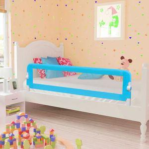 BARRIÈRE DE LIT BÉBÉ vidaXL Barrière de lit pour enfants 150 x 42 cm Bl
