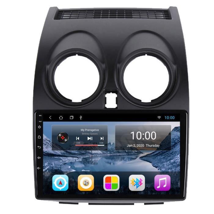 RoverOne Autoradio GPS Bluetooth pour Nissan Qashqai 2008 - 2014 Android Stéréo Navigation WiFi Écran Tactile
