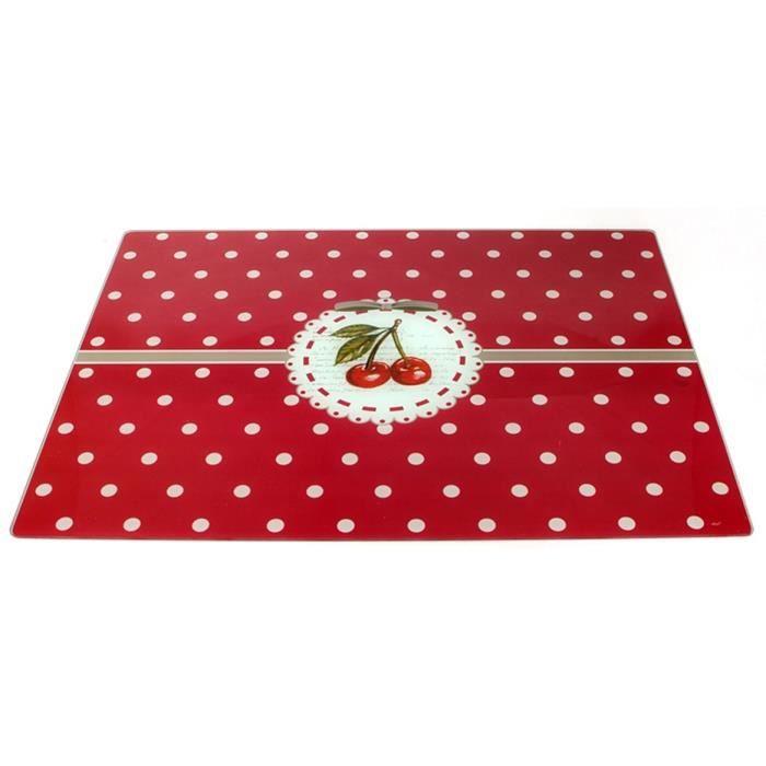 Planche à découper cerise griotte - Rouge - 40 x 30 cm