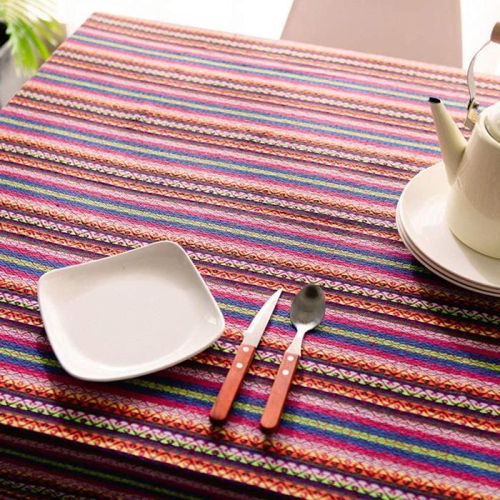 Pinces à nappes CFWL Nappe de Restaurant en Coton Style Ethnique Nappe Blanche pour fête d'anniversaire Nappe Blanche él 35826