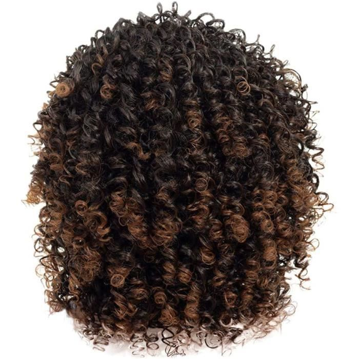 Perruque Femme Naturelle Breacutesilien Courte Lace Frontal Hort Afro Curly Mix Gris Avec Frange Syntheacutetiques Nouvelle Arrive