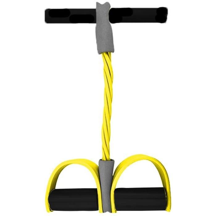Rope Ressort Tension Pédale Abdomen Leg Exerciser Equipment Portable Jambe Tube Corde Résistance Rameur Pédalier Traction Tummy Vent