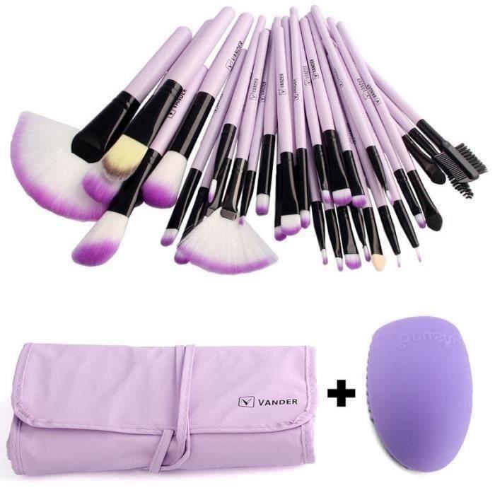 32Pcs pinceau de maquillage Set de maquillage pinceau + Nettoyage d'oeufs Ma27442