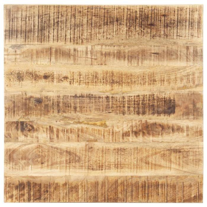 Design-5845Bon Dessus de table Plateau de Table Meuble Contemporain Décor- Plateau Pour Table Bois de manguier solide 25-27 mm 70x70