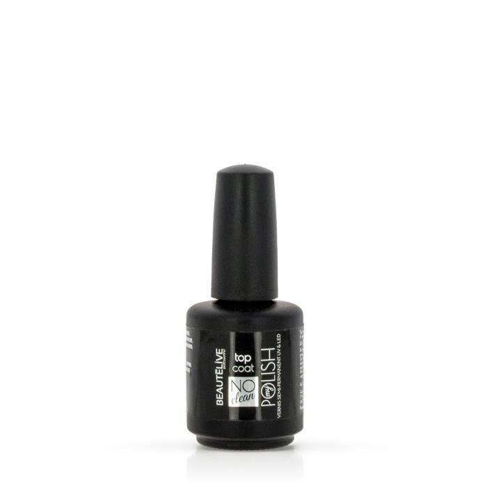 Top coat UV&LED sans résidus No Clean 12ml, Beautélive, Femme