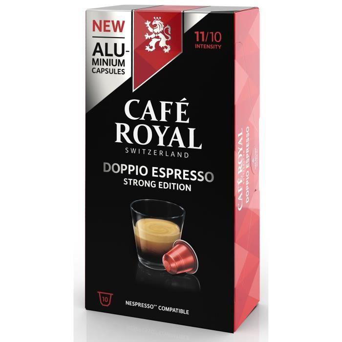 CAFE ROYAL compatible Nespresso Alu Doppio Espresso x10